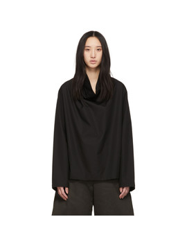 Black Poplin Blouse by Lemaire