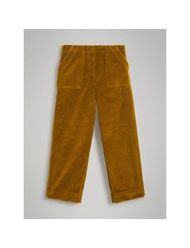 Corduroy Wide Leg Trousers by Burberry