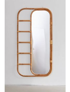 Ria Leaning Rattan Mirror by Urban Outfitters