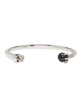 Silver Skull & Claw Bracelet by Alexander Mcqueen