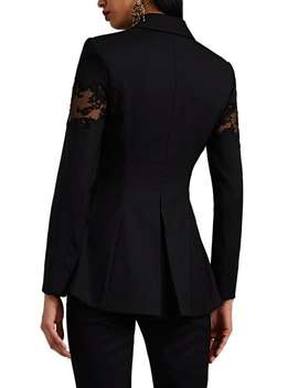 Acacia Lace Inset Wool One Button Blazer by Altuzarra