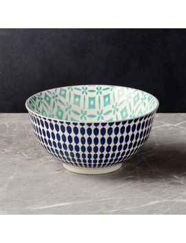"Yuki Blue Noodle Bowl 7.5"" by Crate&Barrel"