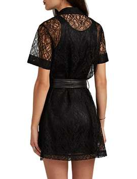 Belted Floral Lace Shirtdress by Alexander Wang