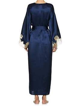 Gina Lace Trimmed Silk Kimono by Gilda & Pearl