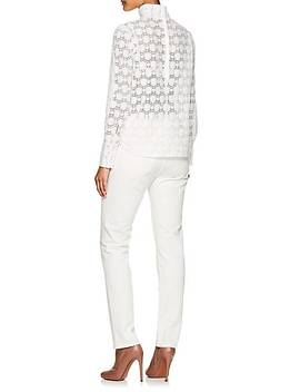 Jade Cotton Blend Lace Blouse by Officine Générale
