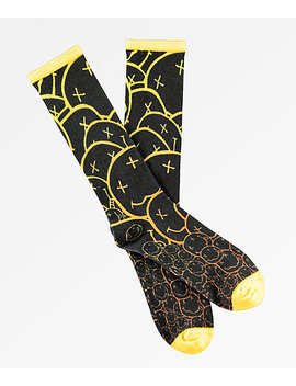 Nirvana Allover Smile Face Crew Socks by Live Nation