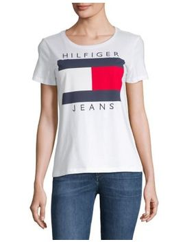 Logo Flag Tee by Tommy Hilfiger