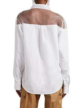 Sheer Organza Detailed Cotton Shirt by Maison Margiela