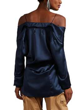 Silk Layered Off The Shoulder Blouse by Maison Margiela