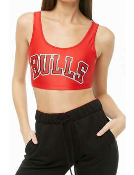 Nba Bulls Graphic Crop Top by Forever 21