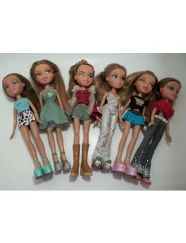 "Bratz Dolls 2001 Mga Entertainment 10"" & 12"" Tall  Fully Dressed Lot Of 6 by Mga Entertainment"