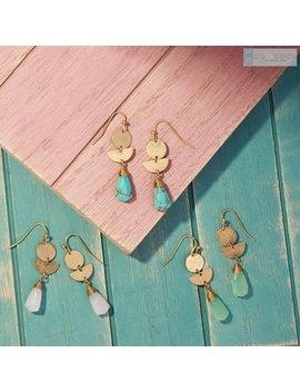 Rose Quartz Earrings, Raw Quartz Earrings, Geometric Earrings, Dangle Drop Earrings, Crystal Earring, Turquoise Earrings, Statement Earrings by Etsy