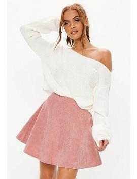 Pink Corduroy Skater Skirt by Missguided