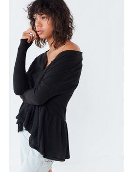 Out From Under Sam Henley Peplum Top by Out From Under