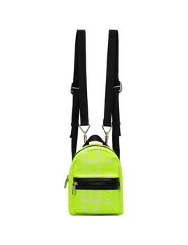 Yellow Mini Logo Backpack by Kenzo
