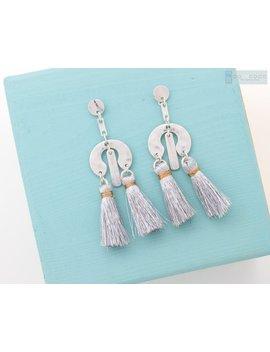 Silver Tassel Earrings, Geometric Dangle Earrings, Fringe Earrings, Holiday Earrings, Multi Tassel Earrings, Statement Earrings, Mobile by Etsy