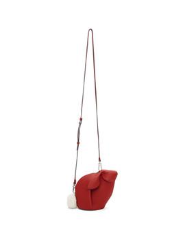 Red Mini Bunny Bag by Loewe