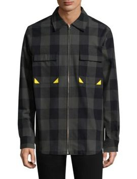 Checkered Cotton Jacket by Dim Mak