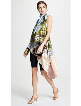 Scenic Print One Shoulder Top by Monse
