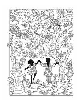 African Glamour Coloring Book by Dover Publications