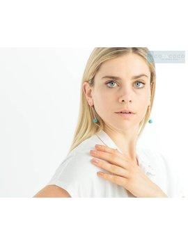 Turquoise Earrings, Turquoise Dangle Earrings, Geometric Earrings, Triangle Earrings, Dainty Earrings, Simple Long Earrings, Wired Earrings by Etsy