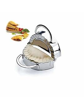 New Stainless Steel Ravioli Mould Dumpling Maker Mold Wrapper Pierogie Pie Crimper Pastry Dough Press Cutter Kitchen Gadgets (S 3inch) by I Kito