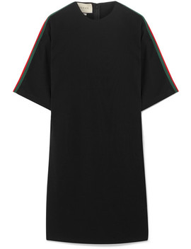 Oversized Grosgrain Trimmed Stretch Cady Tunic by Gucci