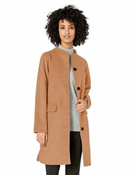 Lark & Ro Women's Funnel Neck Coat by Lark 26+Ro