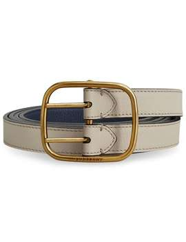 Double Strap Leather Belt by Burberry