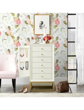 Everly Quinn Poyen 6 Drawer Free Standing Jewelry Armoire by Everly Quinn