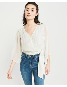 Signature Wrap Blouse by Abercrombie & Fitch