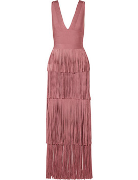 Fringed Bandage Gown by Hervé Léger