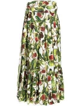 Fig Print Skirt by Dolce & Gabbana