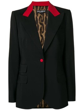 Red Trim Blazer by Dolce & Gabbana