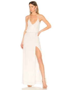 Beaded Crossback Gown by Lpa