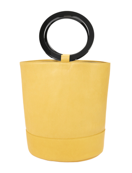 Bonsai Yellow Large Bucket Bag by Simon Miller