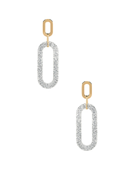 Glitter Double Resin Link Hoops by Rebecca Minkoff
