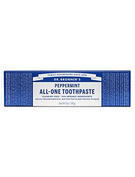 Dr. Bronner Peppermint Toothpaste. Natural Toothpaste With Organic Ingredients (5 Ounce) by Dr. Bronner's