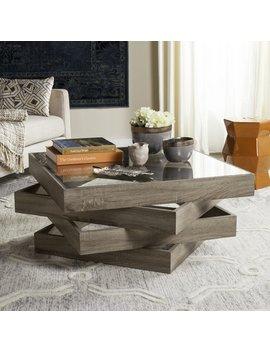 Safavieh Anwen Geometric Wood Coffee Table by Safavieh