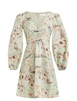 Wayfarer Floral Print Linen Dress by Zimmermann