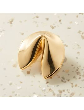 Mini Gold Fortune Cookie Catchall by Crate&Barrel