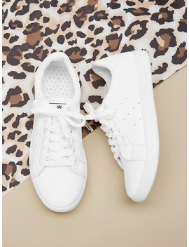 Lace Up Low Top Sneakers by Romwe