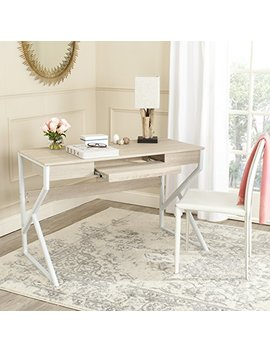 Safavieh Home Collection Bryant Natural And White Computer Desk by Safavieh