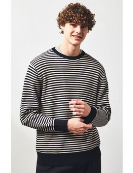 Barney Cools Warm Stripe Crew Neck Sweater by Pacsun
