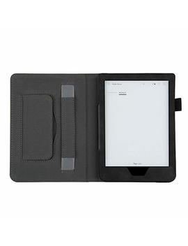 6.0inch Ultra Thin Smart Leather Case Stand Cover Case For Kobo Clara Hd 2018 (Black) by Fresh Zone