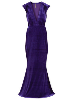 Stretch Velvet Gown by Norma Kamali