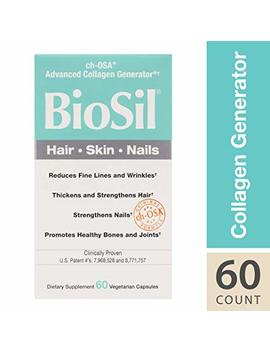 Bio Sil Hair, Skin, Nails, Natural Nourishment For Your Body's Beauty Proteins, Vegan, 60 Capsules (Ffp) by Natural Factors