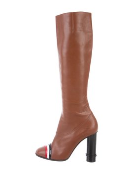 Leather Knee High Boots by Loewe