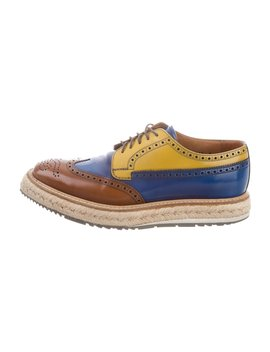 Brogue Derby Oxfords by Prada
