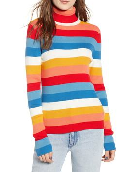 Rainbow Stripe Rib Sweater by Wrangler